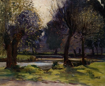 Pollarded Willows by Sir Alfred James Munnings