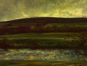 The River Barle Exmoor by Sir Alfred James Munnings