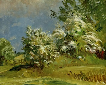 May Blossoms by Sir Alfred James Munnings