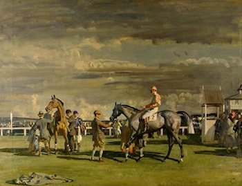 After the Race by Sir Alfred James Munnings