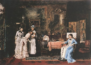 Baby's Visitors by Mihaly Munkacsy