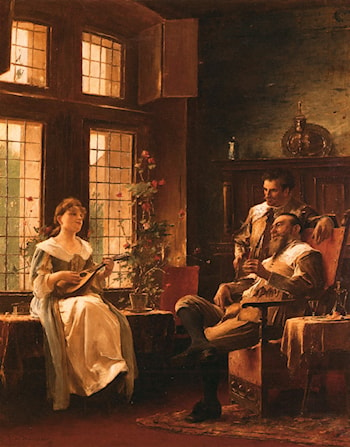 A Tender Chord by Mihaly Munkacsy