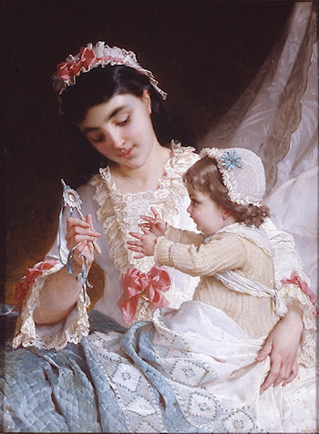 Distracting the Baby by Emile Munier