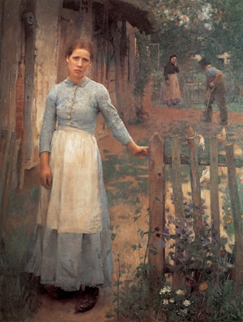 The Girl at the Gate by Sir George Clausen
