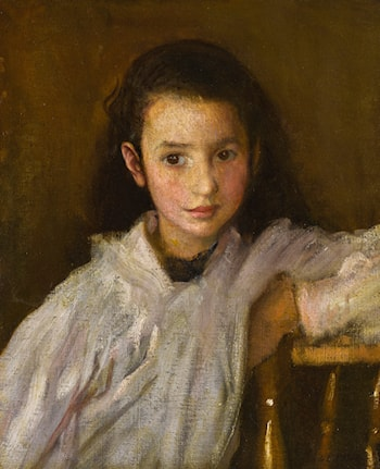 Portrait of a Young Girl by Sir George Clausen