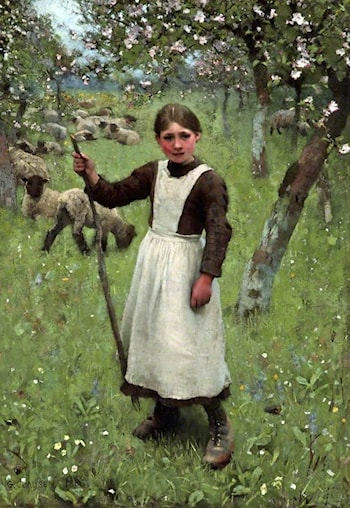 The Shepherdess by Sir George Clausen
