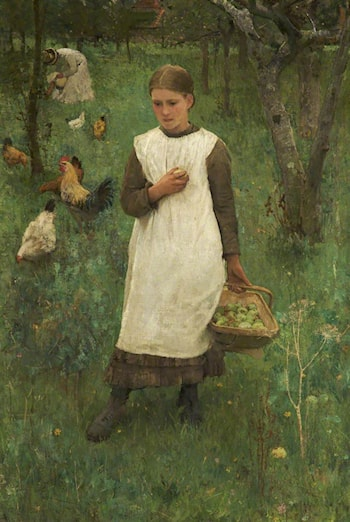 In the Orchard by Sir George Clausen