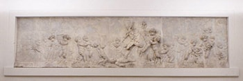 Children and satyr children leading a goat to sacrifice (part of a group) by Clodion