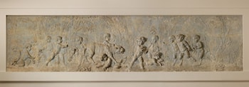 Children and satyr children stealing the cubs of a pantheress (part of a group) by Clodion