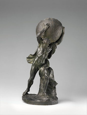 Hercules or Atlas Supporting the Globe by Clodion