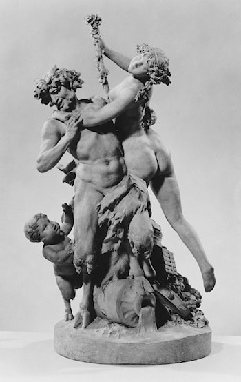 Bacchic group: satyr and bacchante with infant satyr by Clodion