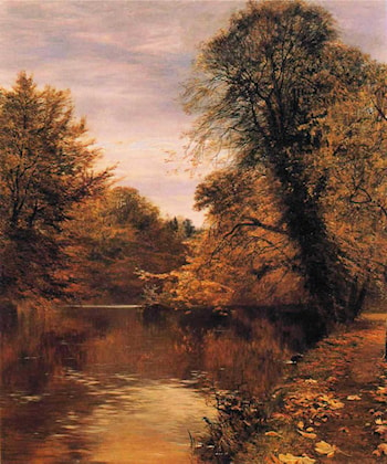 Leaves are but the Wings on which the Summer Flies by George Vicat Cole