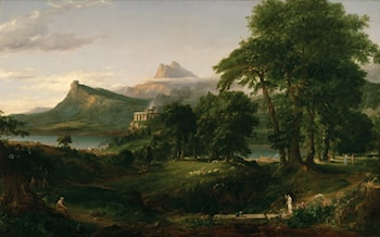 The Course of Empire: The Arcadian or Pastoral State by Thomas Cole