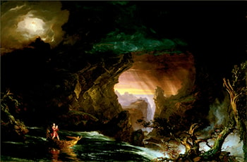 The Voyage of Life: Manhood by Thomas Cole