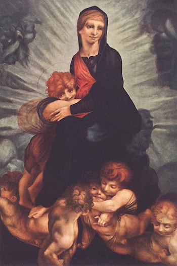 Madonna and Child with Putti by Rosso Fiorentino