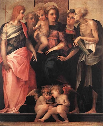 Madonna Enthroned with Four Saints by Rosso Fiorentino