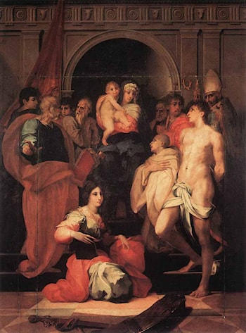 Madonna Enthroned and Ten Saints by Rosso Fiorentino
