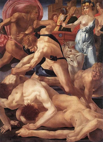Moses Defending the Daughters of Jethro by Rosso Fiorentino