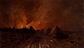 The Conflagration by Emile Breton