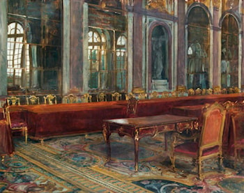 Sketch of the Table in the Hall of Mirrors, at Which the Treaty of Versailles Was Signed by Herbert Arnould Olivier