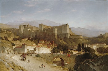 The Hill of the Alhambra, Granada by Samuel Colman