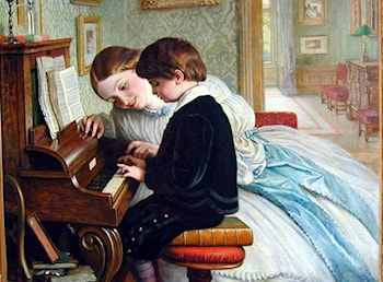 The Music Lesson by Charles West Cope