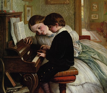 Music Lesson by Charles West Cope