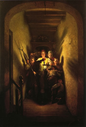The Night Alarm: The Advance by Charles West Cope