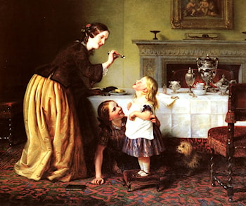 Breakfast Time ­ Morning Games by Charles West Cope