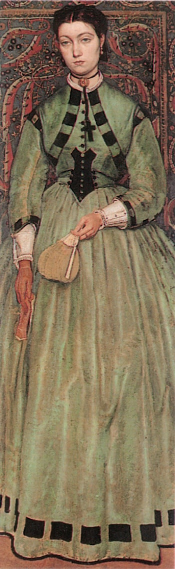 Lucie Leys by Baron Jan August Hendrik Leys