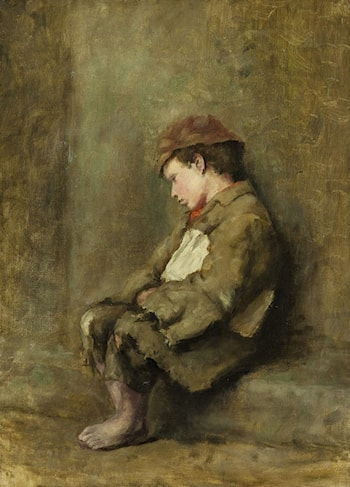 The Little Newspaper Boy by Richard Thomas Moynan