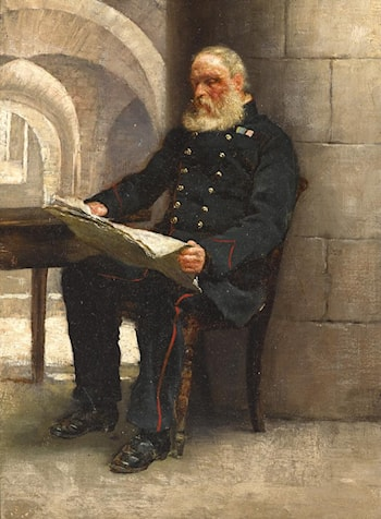 Portrait of an Army Pensioner at the Royal Hospital, Kilmainham by Richard Thomas Moynan
