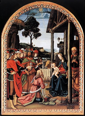 Adoration of the Kings (Epiphany) by Pietro Perugino