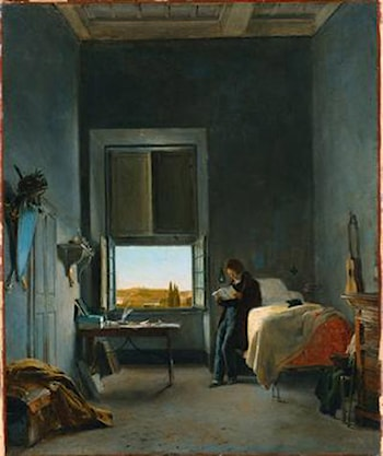 The Artist in His Room at the Villa Medici, Rome by Leon Cogniet