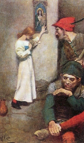 Joan of Arc in Prison by Howard Pyle