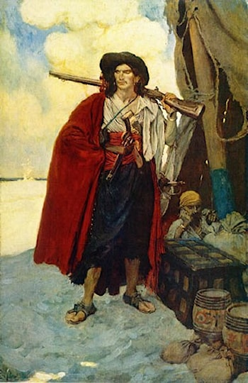 The Pirate was a Picturesque Fellow by Howard Pyle