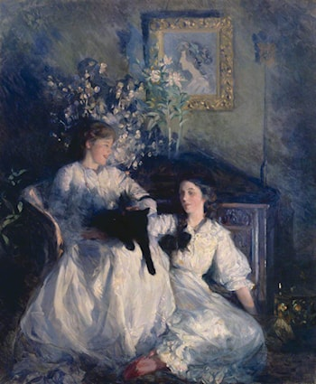 Confidences by Frank Bramley