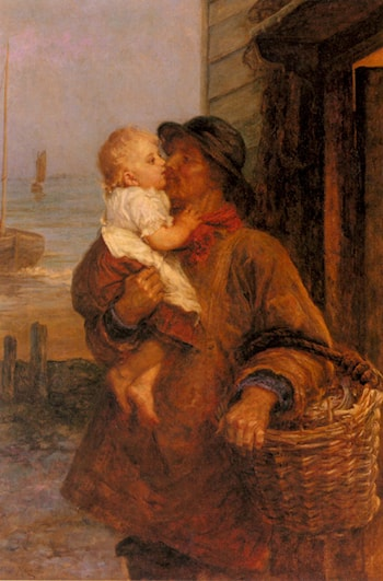 A Welcome For Daddy by Frederick Morgan