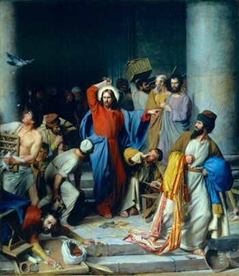 Casting out the Money Changers by Carl Heinrich Bloch
