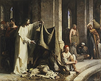 Christ Healing by the Well of Bethesda by Carl Heinrich Bloch