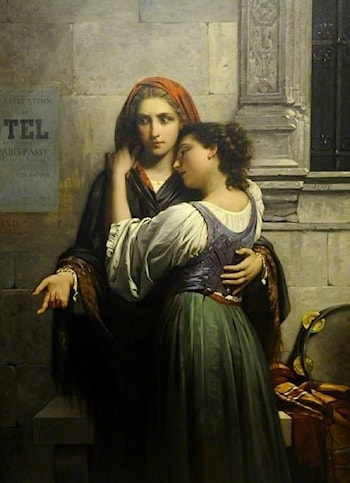The Beggar Girls by Pierre-Auguste Cot