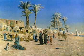 On the Outskirts of Cairo by Peder Mork Monsted