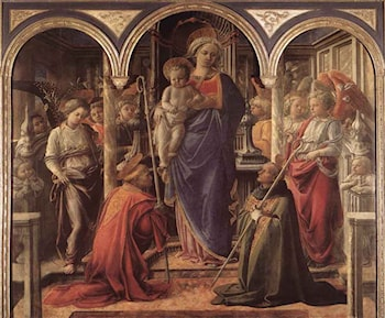 Madonna and Child with St Fredianus and St Augustine by Fra Filippo Lippi