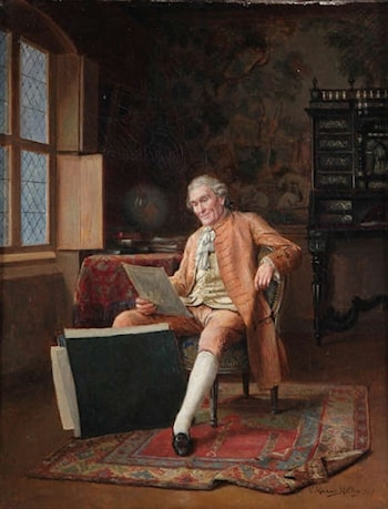 Draughtsman in an Interior by Victor Marais Milton