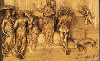 Isaac Sends Esau to Hunt by Lorenzo Ghiberti