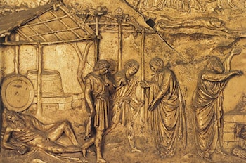 The Drunkennes of Noah by Lorenzo Ghiberti