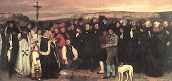 Burial at Ornans by Gustave Courbet