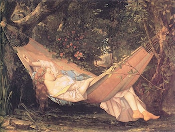 The Hammock by Gustave Courbet
