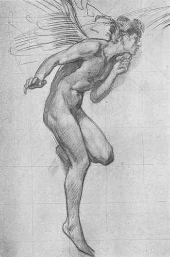 Study for Figure of Boreas by Harold Speed