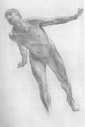 Study for the Figure of Apollo in Apollo and Daphne by Harold Speed